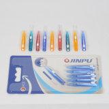 Mejor Venta Portable tipo Push cepillo interdental palillos de plástico para viajar