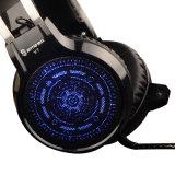Hoofdtelefoons van uitstekende kwaliteit van het Spel van de Modieuze Koker van het Leer de Stereo (k-V7)