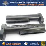 CNC таможни поворачивая черный алюминий разделяет части пушки