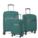 ユニバーサル車輪が付いている方法ポリエステルトロリー荷物のスーツケース