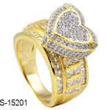 Il micro d'argento dei monili 925 di modo pavimenta gli anelli di regolazione. (Colore dell'oro 14K e del Rhodium)