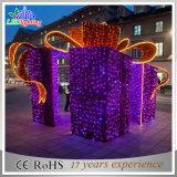휴일 현대 정원 LED 옥외 훈장 선물 상자 빛