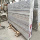Lastre di marmo bianche di legno di cristallo naturali Polished