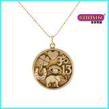 Collana d'argento su ordinazione del pendente di fascino di fortuna dei monili di disegno semplice