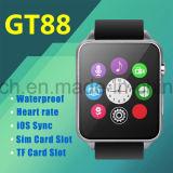 Telefone esperto impermeável do relógio IP57 com o monitor Gt88 da frequência cardíaca