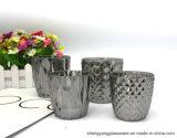 De goede Kruiken van het Glas van het Plateren van de Decoratie Ionen Rokerige Grijze voor Kaarsen