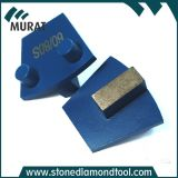 Únicas almofadas do assoalho do metal do diamante do segmento para a máquina de Werkmaster