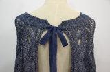 Maglione lavorato a maglia Lace-up Backless delle donne
