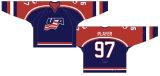 Desgaste do desporto de personalização # 97 Whalers Detroit 1995/1996-1996 /1997 Home Hóquei no Gelo Jersey