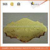고품질 주문 명확한 비닐 금 워드 또는 금 배경 스티커