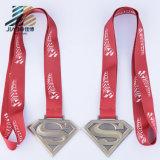 50-10mm 아연 합금 주물 관례 2016년 수퍼맨 로고 금속 마라톤 메달 또는 큰 메달