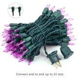 100 LED 33 FT Mini branca quente de luzes de String