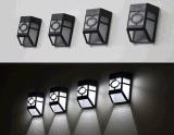 Lámpara al aire libre del pasillo de la luz de calle de la energía solar de 2 LED con la luz blanca caliente