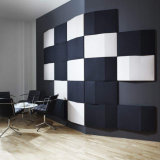 Parede de decoração de interiores insonorizados Painel acústico com fibra de poliéster (PAP07-1)