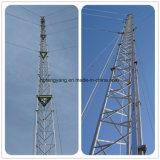 Антенна оцинкованной стали микроволновой связи радио WiFi Guyed мачты Телекоммуникационная башня