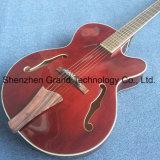 Kits de guitare de bricolage Bass / Jazz de corps creux de la guitare électrique dans le vin rouge (gj-23)