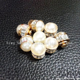 ハンドメイドDIY材料は真珠のリベットのラインストーンのアクセサリの高いヘッドビードをねじで締める