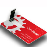 주문 로고 카드 USB 섬광 드라이브 신용 카드 USB 지팡이