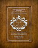 유일한 디자인 Laser 절단 Aacrylic 결혼식 권유 카드