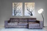 Черный и белый абстрактного искусства стиле картины маслом для гостиной оформлены
