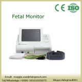 Ritmo cardíaco fetal que vigila a solos gemelos del monitor fetal que vigilan con el papel fetal del transductor - Maggie