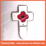 Навальные дешевые значки Pin отворотом цветка мака креста сувенира