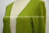 Die Striped Frauen strickten lange Schlange Wolljacke-Staubtuch-Mantel