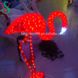 휴일 점화 24V LED Flamingosculpture 빛
