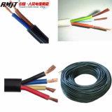Alambre eléctrico flexible de cobre resistente al fuego y cable del PVC Insualted de la base