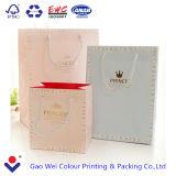 Bolsa de papel popular barata por encargo de lujo de la manera de las compras con su propia insignia