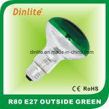 Refelctor 녹색 전구 이상으로 R80-E27