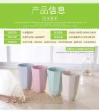Het bamboe vormt de Milieuvriendelijke Kop van de Melk van de Koffie van de Badkamers van de Tandenborstel van het Stro van de Tarwe tot een kom