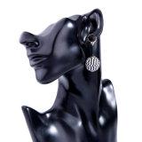 Nuevo Personal Simple Seedbead elegante Colgante bola aros de aleación para la Mujer