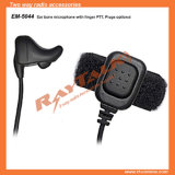 Accessoires radio à deux voies Écouteur à conduction osseuse à l'oreille avec Finger Ptt