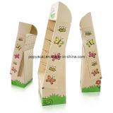 PappPoint of Sale Bildschirmanzeige mit 4 Regalen, die 30kg, starken Pappfußboden-Ausstellungsstand anhalten