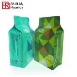 Gravüre-Drucken-Aluminiumfolie-Quadrat-Unterseiten-Kaffee-Beutel mit Zinn-Binden