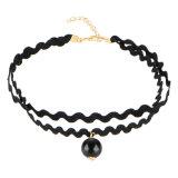 女性の空のための新しいゴシック様式入れ墨の革チョークバルブのネックレス