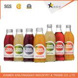 La plastica del succo di frutta ha stampato l'autoadesivo trasparente di stampa del contrassegno della bottiglia della bevanda