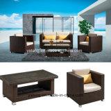 Всепогодная алюминиевая напольная Wicker софа мебели сада мебели ротанга установила двойной таблицей &Single&Coffee (YT231)