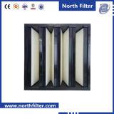 Hoge Stroom V van de Turbine van het gas Filter van de Lucht van het Pak de Industriële