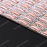 Nastro di ceramica poco costoso di scintillio della guarnizione di Diamante Tulle della maglia dei Rhinestones per i vestiti da promenade