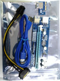 Nuevo 010c GPU Pcie 16X elevador vertical Molex 4pin de 6 clavijas USB3.0 para Btc Litecoin Eth
