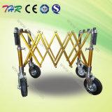 Trolley de caixão funeral com rodas diferentes