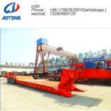 Transport-Vorderseite-Ladevorrichtungs-niedriger Bett-LKW-Schlussteil des Exkavator-80t für Verkauf