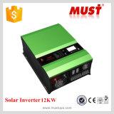 Inverseur solaire de basse fréquence 10kw de l'usine ISO9001 avec le contrôleur solaire de charge de 120A MPPT