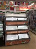Três Lyers Sorvete Freezer refrigerados Gelato vitrina de exposição para fins comerciais