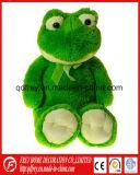 아기를 위한 연약한 개구리의 귀여운 녹색 견면 벨벳 장난감
