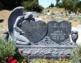 Style europeo Shanxi Black Granite Tombstone o Monument