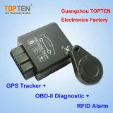 Carro de OBD Rastreador GPS com RFID Identificar ID do condutor, imobilizador sem parar o motor TK228-Ez