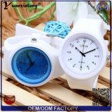 Relógio de cristal do silicone da geléia das senhoras das mulheres de quartzo do silicone novo da forma Yxl-983